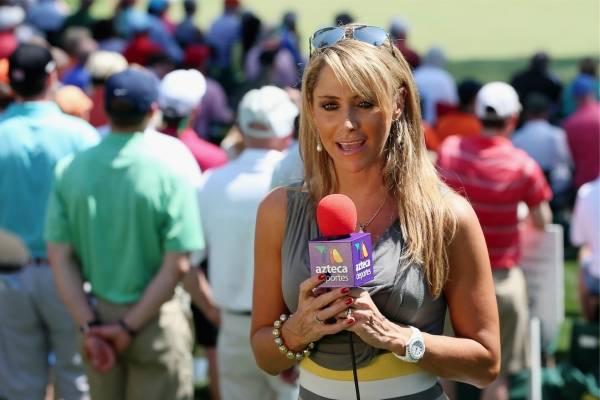 Inés en Georgia, durante una cobertura de golf.