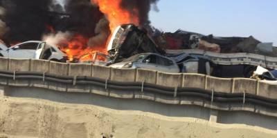 Incêndio em mata causa série de acidentes na Carvalho Pinto