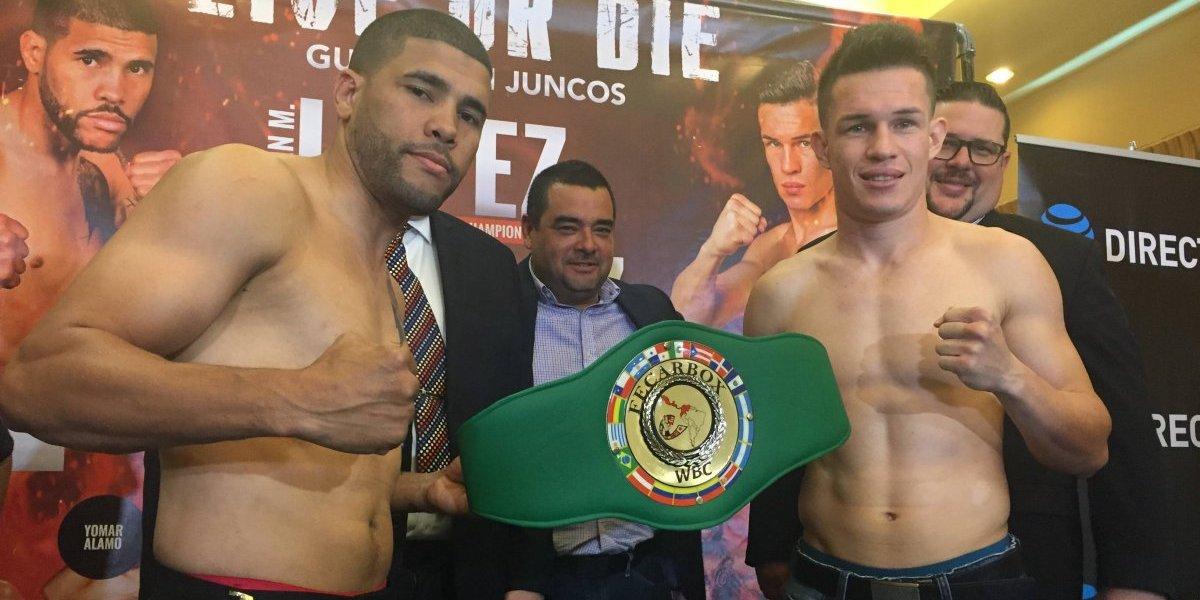 Con hambre de victoria Juanma y Vélez en su pelea