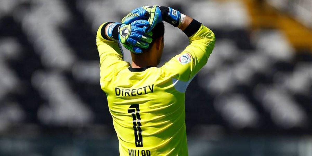 Justo Villar volvió a pisar la cancha del Estadio Monumental