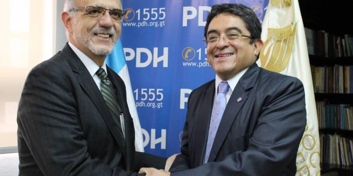PDH recibe a Iván Velásquez y buscan continuidad de esfuerzos en pro del bienestar de la población