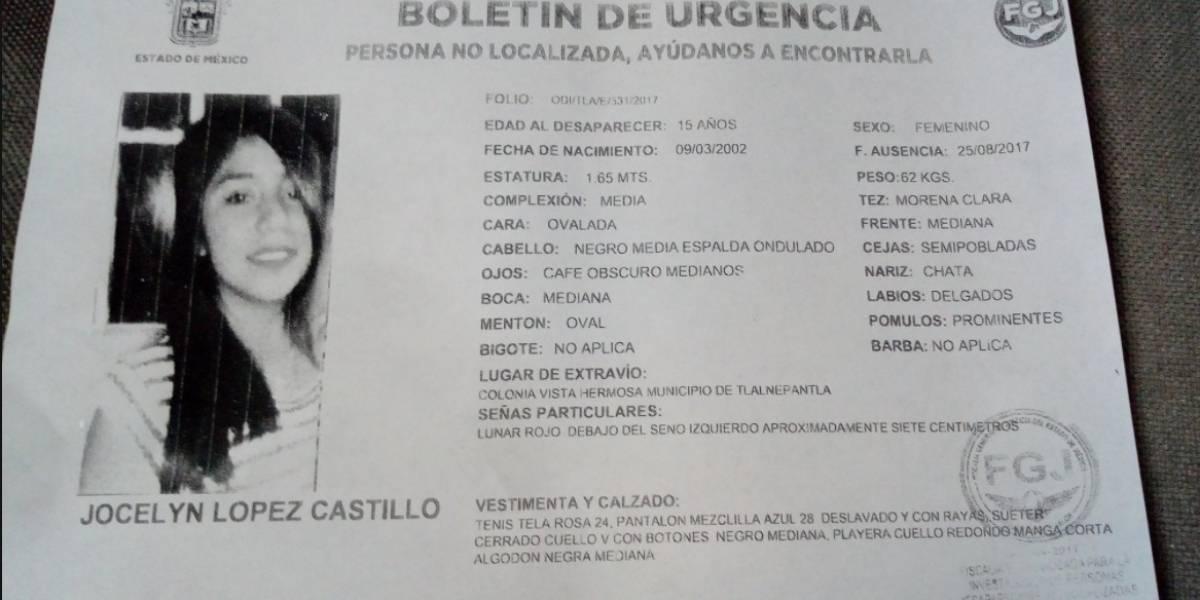 Reportan desaparición de menor en Vista Hermosa, Tlalnepantla
