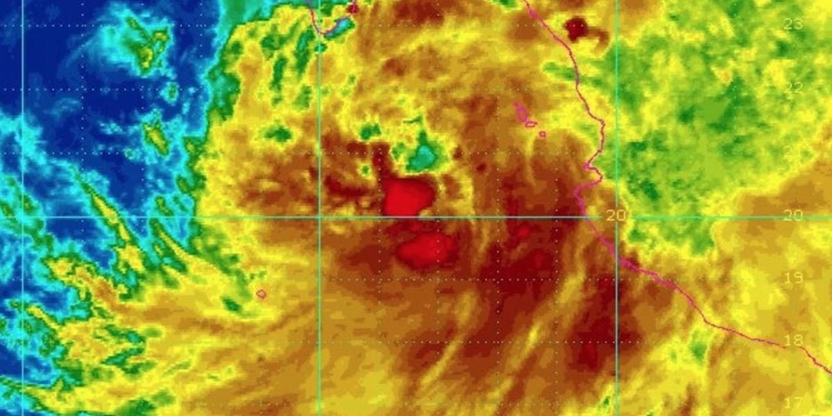 Se forma tormenta tropical Lidia frente a costa de México