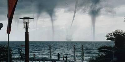 Tornados dibujan una escena apocalíptica en las costas de Rusia