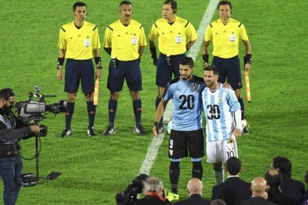 Messi y Suárez se unieron por 2030 / imagen: AFP