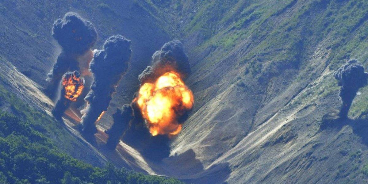 EU y Corea del Sur ensayan bombardeos en frontera con Corea del Norte