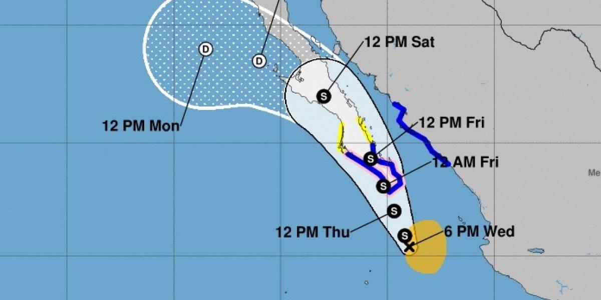 Tormenta tropical Lidia se acerca a Los Cabos