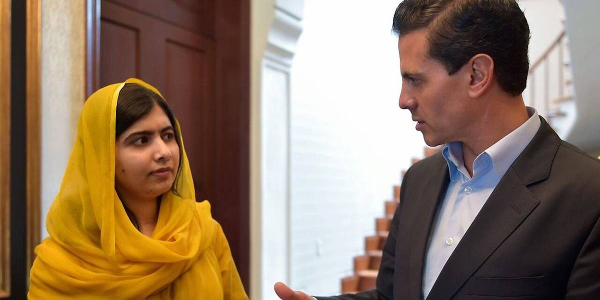 Pide Malala a Peña Nieto asegurar educación en todos los rincones de México