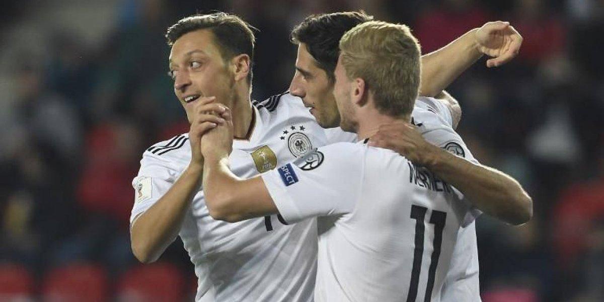 Alemania sigue demostrando su condición de campeón y quedó a una victoria de Rusia 2018