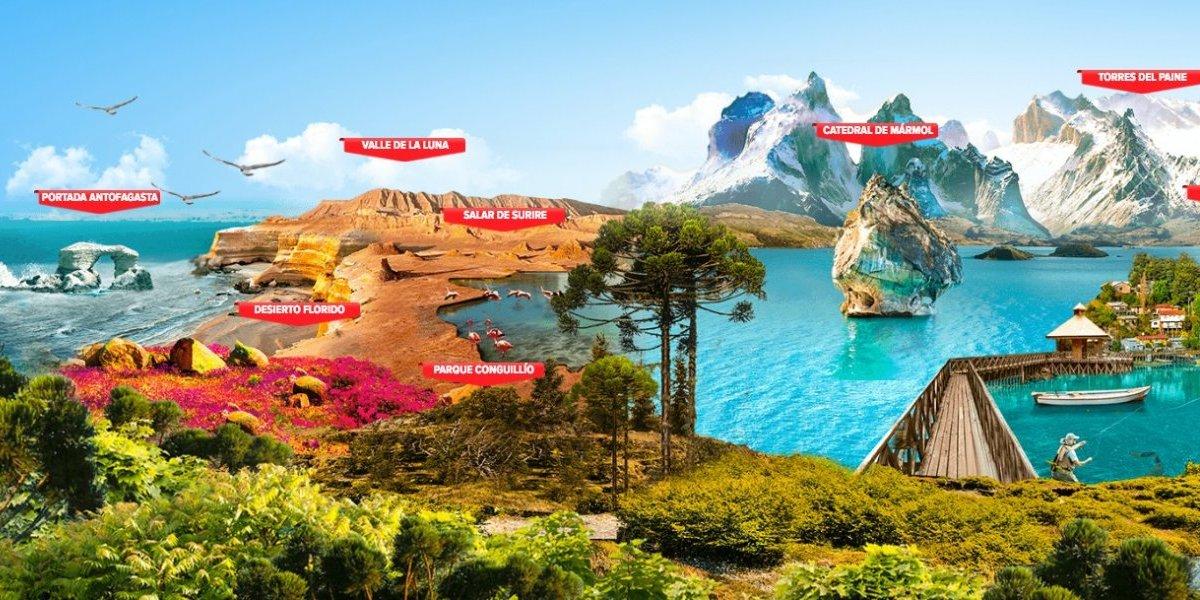 ¿Te gusta más el norte o el sur del país? Llaman a votar por paisajes de Chile para incluirlos en Monopoly