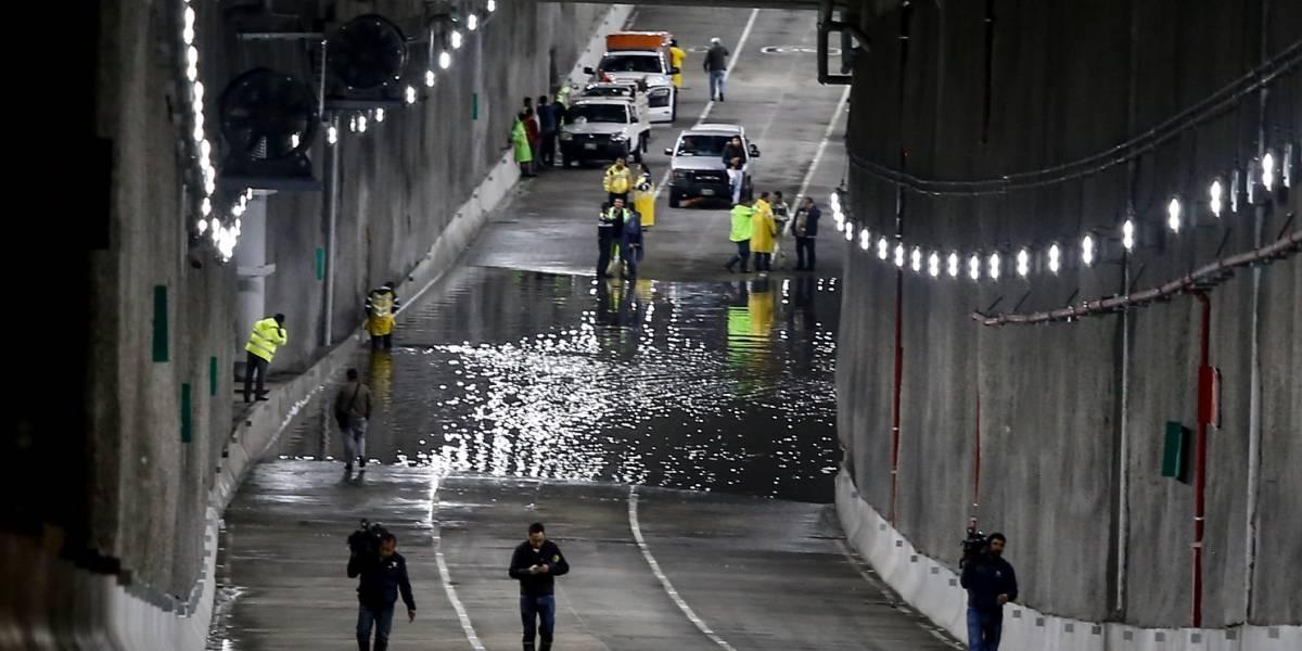 Se inunda el Deprimido Mixcoac por las lluvias