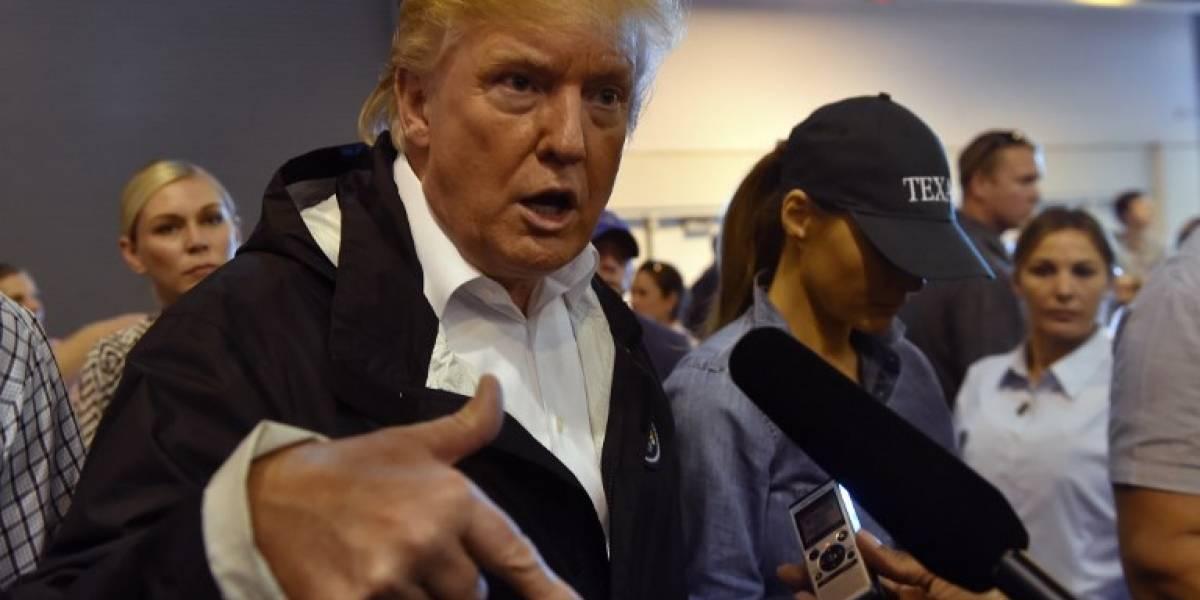 """Trump en Texas tras paso del huracán Harvey: """"Estados Unidos está con ustedes"""""""