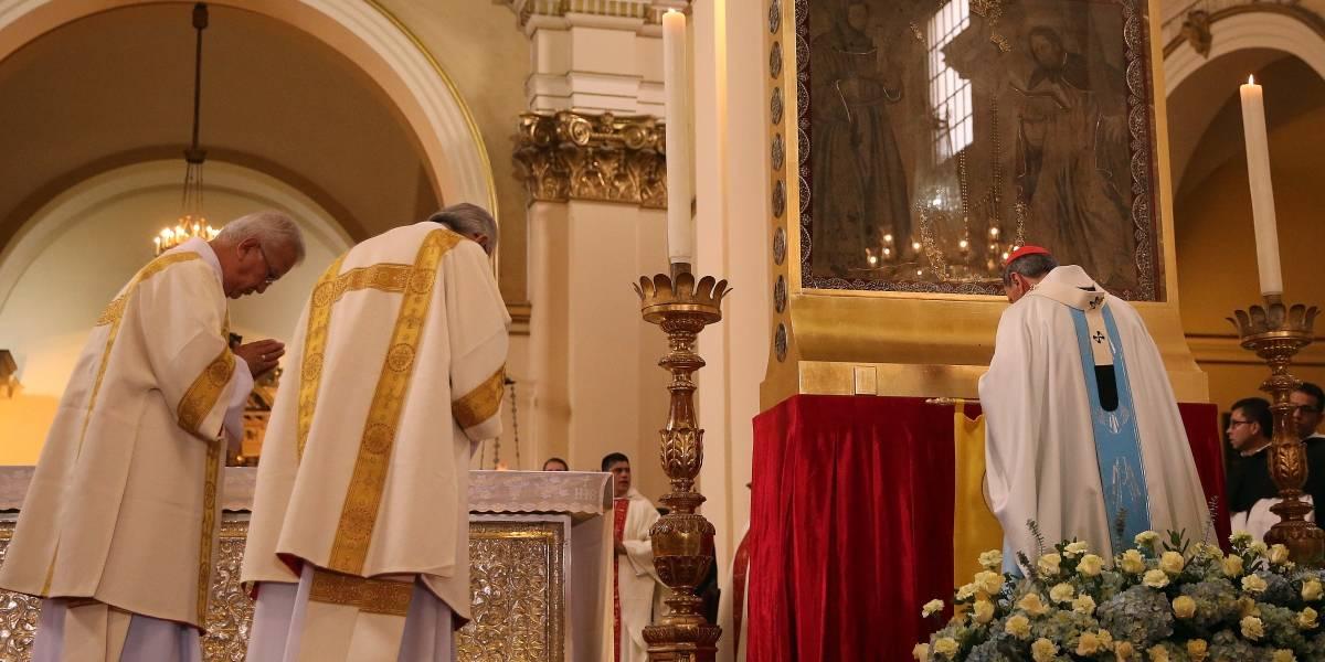 Entronizan en la catedral primada de Bogotá a la Virgen de Chiquinquirá