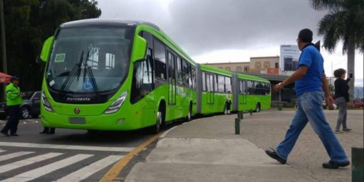 Transmetro suspende temporalmente el servicio en dos de sus rutas