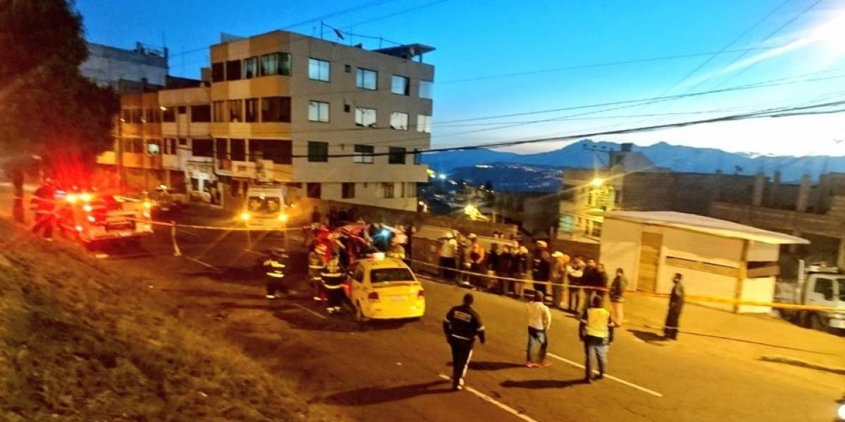 Accidente de tránsito en Av. Eloy Alfaro y Manuel Ambrosio, en Quito