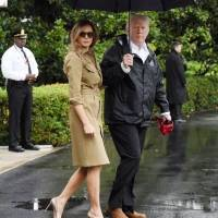 Trump Re-Visits Flood Victims in Texas