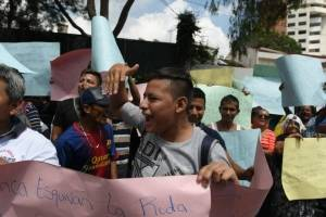 Manifestación contra Iván Velásquez