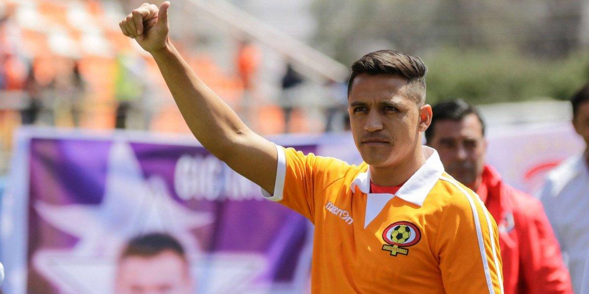 Alexis Sánchez volvió a vestir la camiseta de Cobreloa