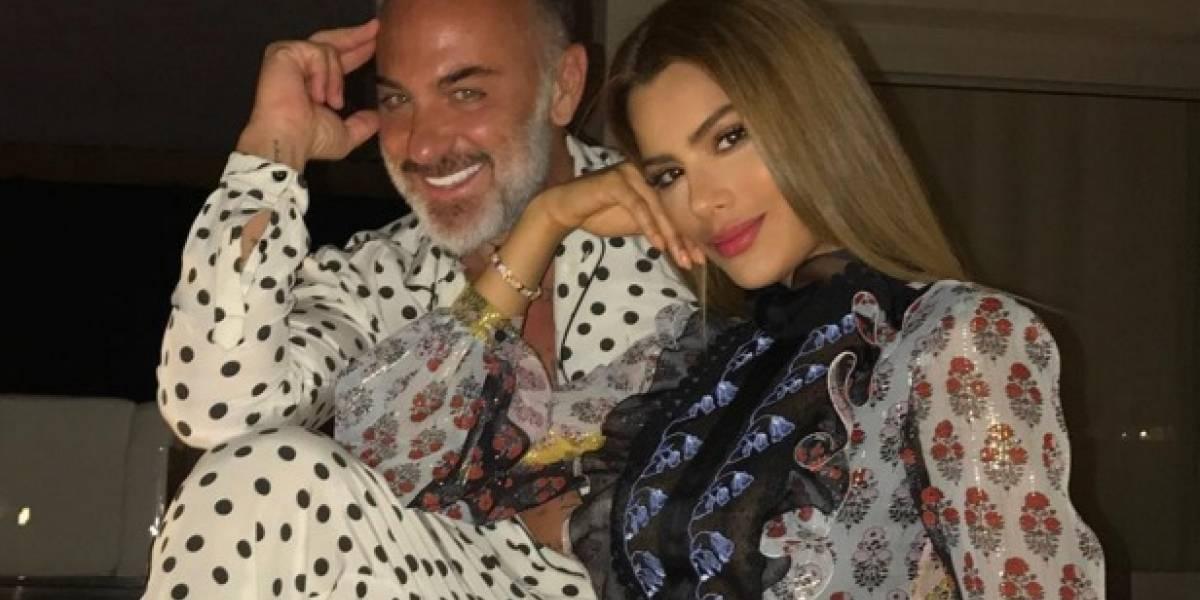 Así reaccionó Gianluca Vacchi al ver que otro besa a Ariadna Gutiérrez