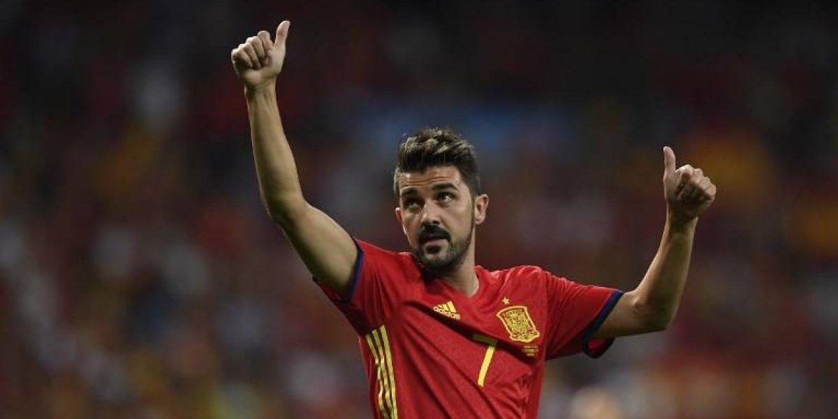 David Villa se lesiona y es duda para el partido entre España y  Liechtenstein