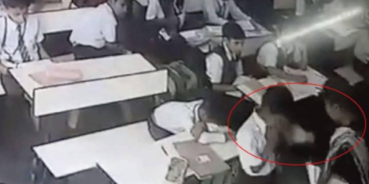 Video: Profesora golpea 40 veces a su alumno frente a compañeros de clase