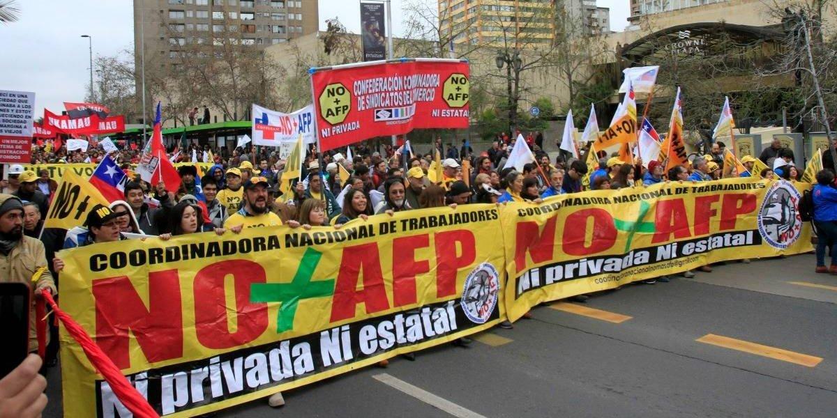 Coordinadora No+AFP anuncia plebiscito a fines de septiembre tras marchas en todo el país