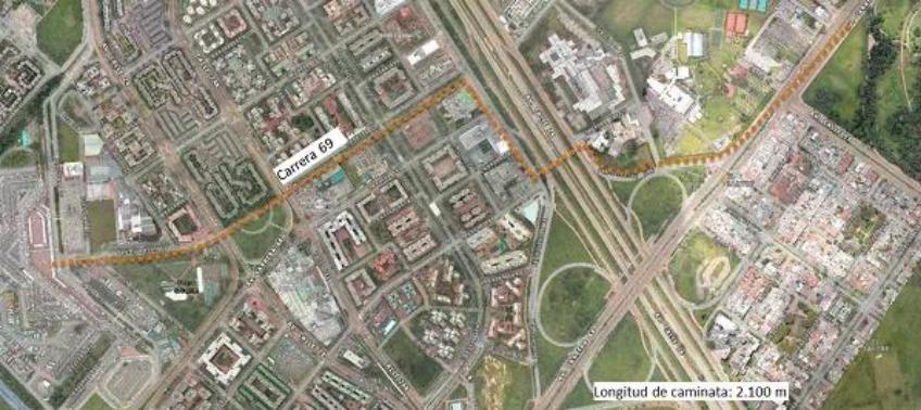 Use este camino desde el Terminal de Transporte al Parque Simón Bolívar para la misa del papa