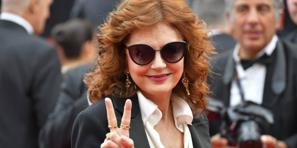 A sus 70 años, Susan Sarandon impacta a todos con tremendo escote en Venecia