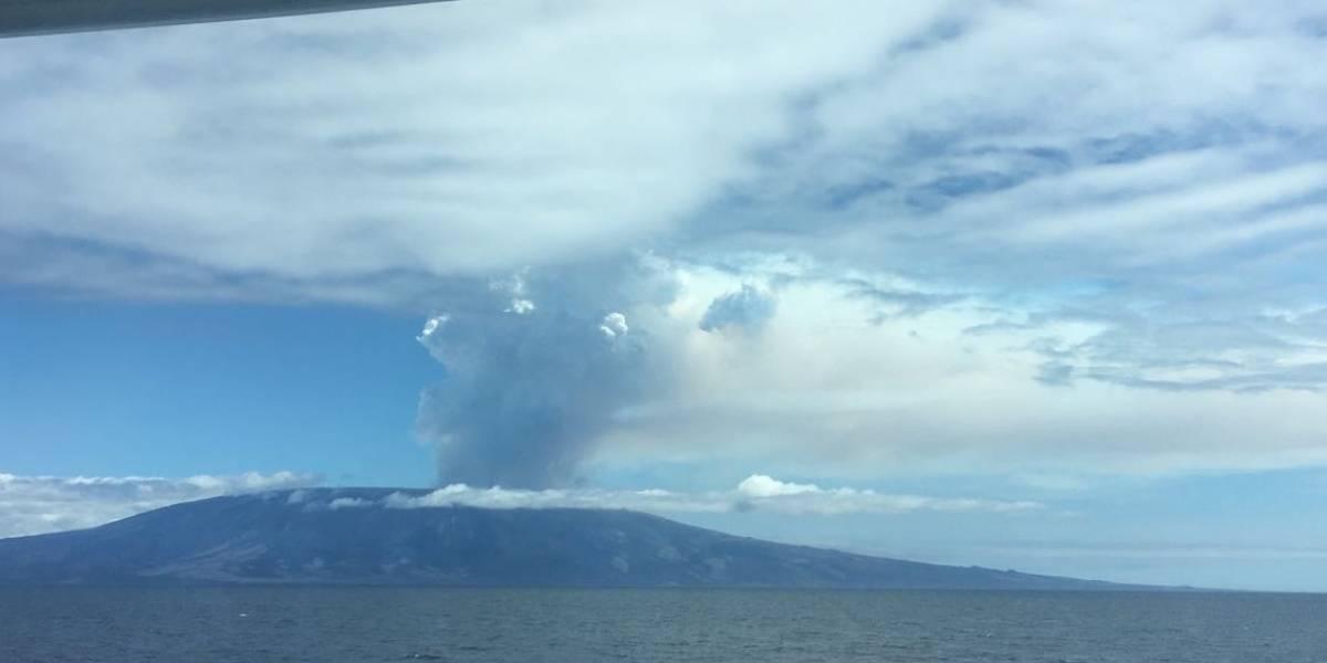 Volcán La Cumbre de isla Fernandina empezó una nueva fase eruptiva