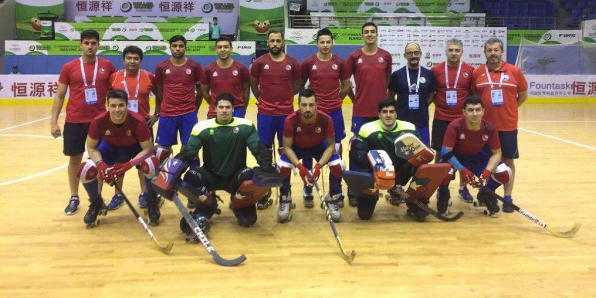 La selección chilena de hockey luchó ante España y cayó agónicamente en los World Roller Games