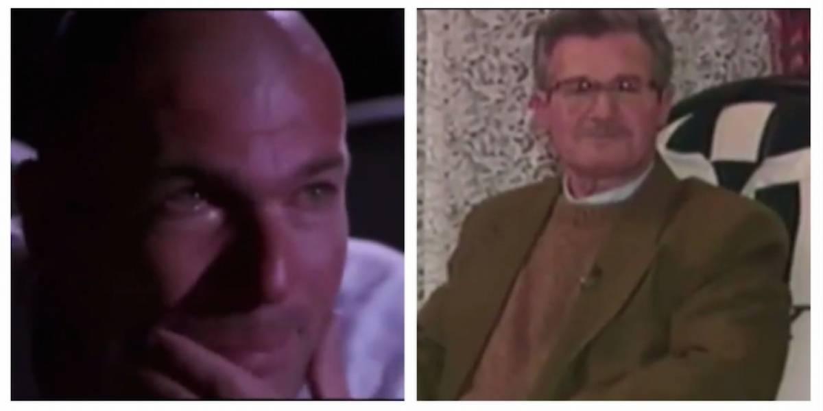 VIDEO. Las lágrimas de Zidane al ver un video de su padre
