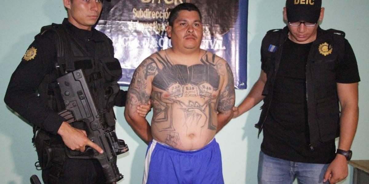PNC captura a peligroso líder pandillero que tiene nueve ingresos a prisión