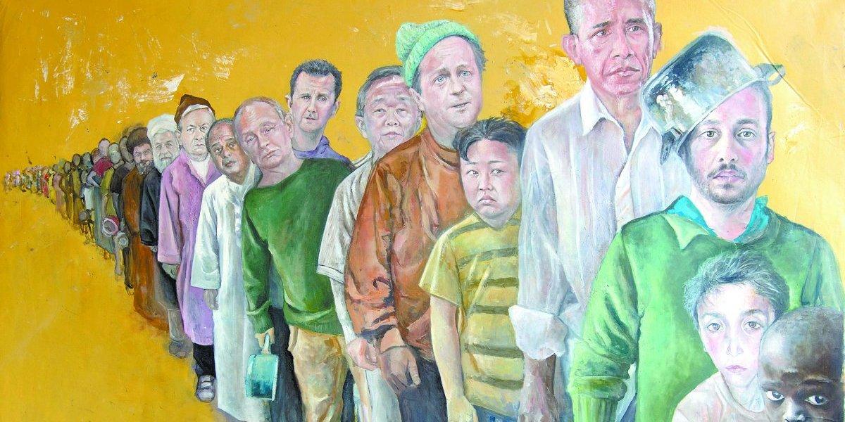 Artista sírio usa a arte para problematizar descaso com refugiados