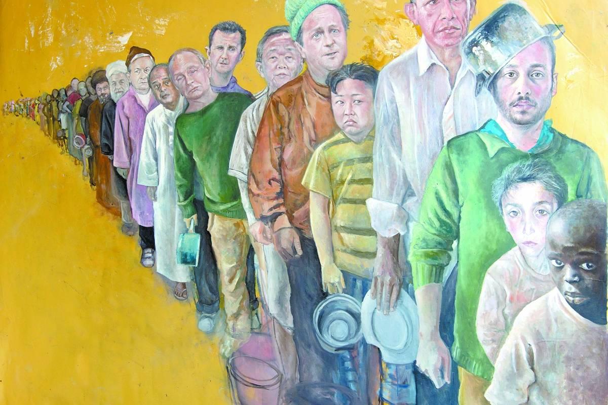 'A Fila' é uma das pinturas de 'A série de vulnerabilidades' | DIvulgação