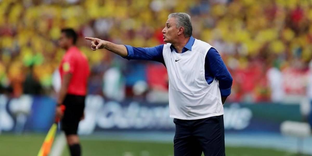 """Tite: """"fue justo el empate de Colombia con Brasil"""""""
