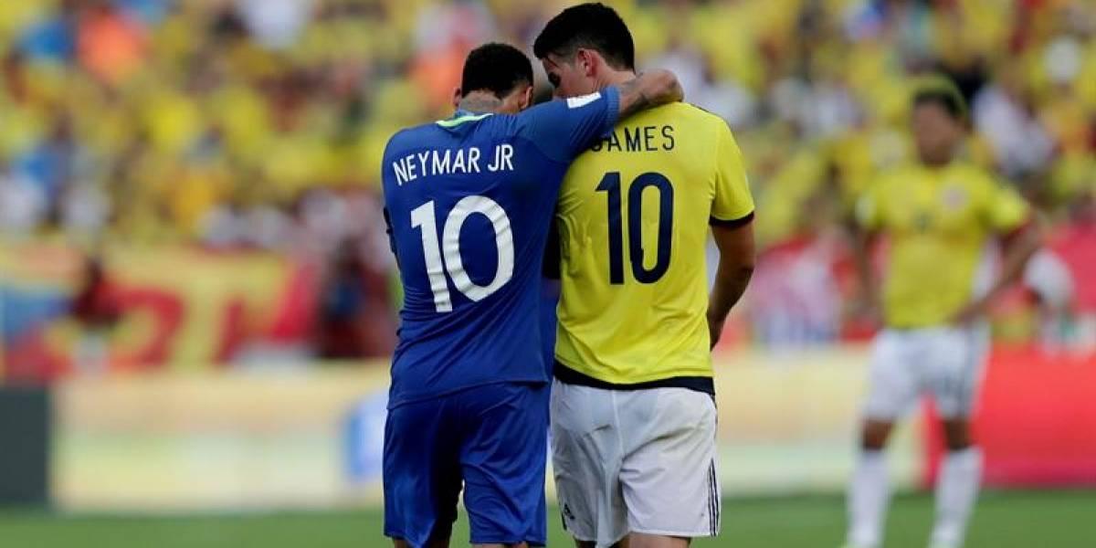 """Neymar, """"lujos"""" y gran amistad en el partido entre Colombia y Brasil"""