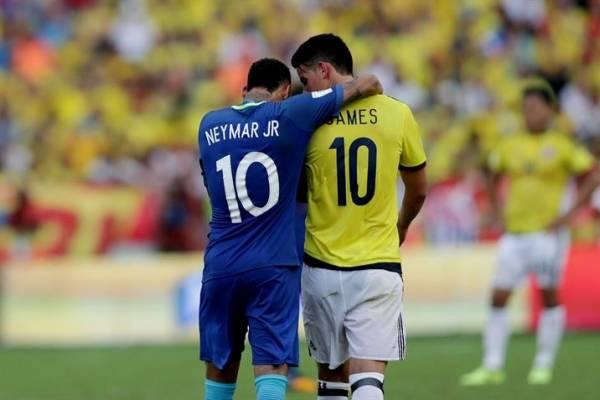 Neymar y James