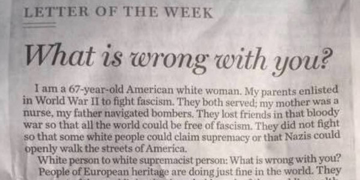 """""""¿Qué está mal contigo?"""": El mensaje de una anciana contra los """"perdedores"""" supremacistas blancos de EEUU que se volvió viral"""