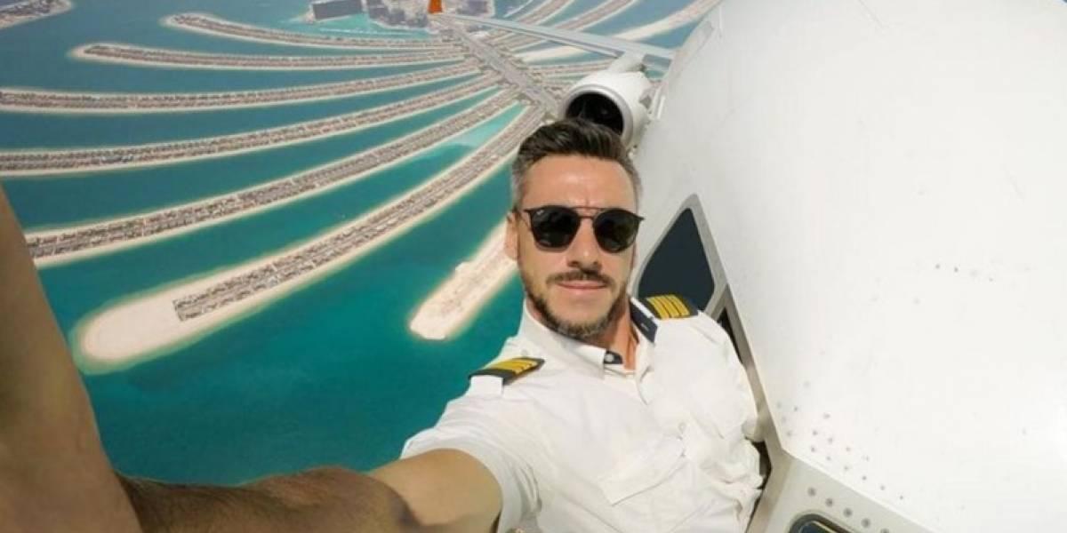 Piloto sube a Instagram la selfie más alucinante y peligrosa del mundo en Dubái y genera polémica en redes sociales