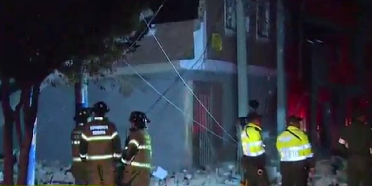 Investigan las causas del desplome de un edificio del centro de Bogotá