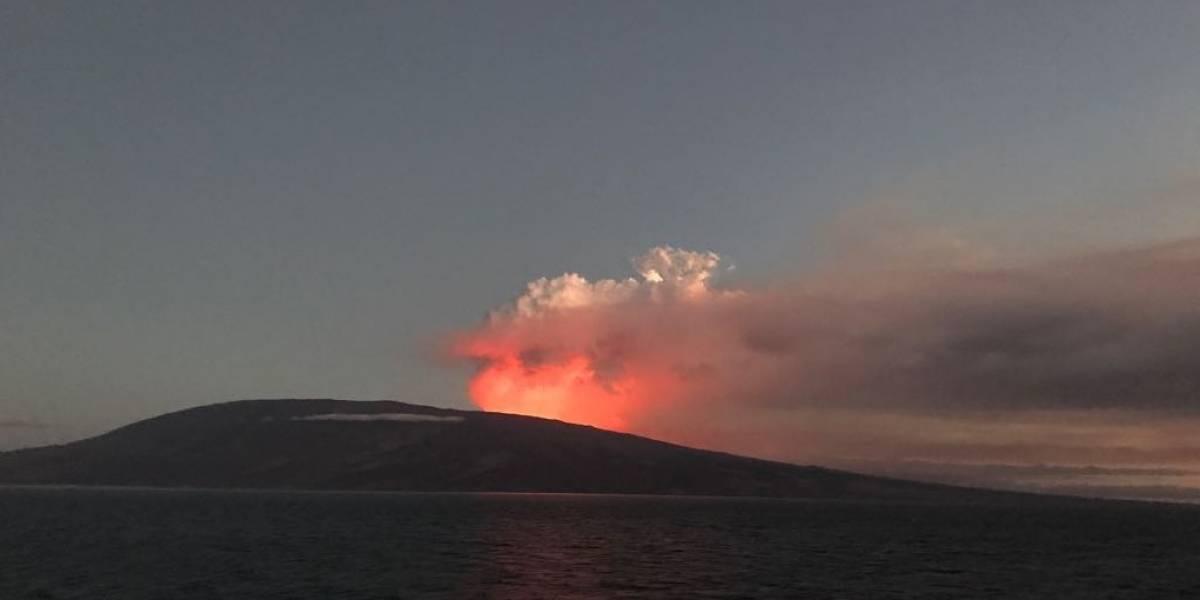 Al menos dos flujos de lava emana el volcán La Cumbre, en las Islas Galápagos
