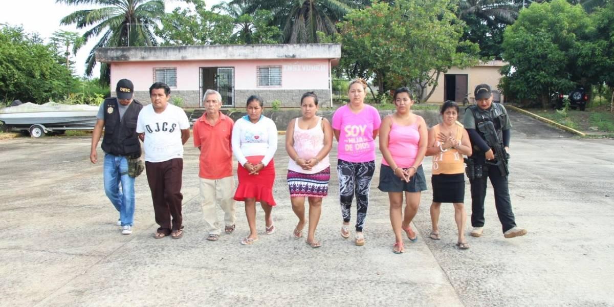 Capturan a nueve presuntos integrantes de estructura de tráfico ilegal de personas