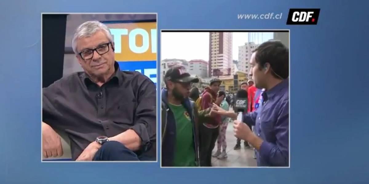Hincha boliviano empujó a periodista chileno y escupió a la cámara
