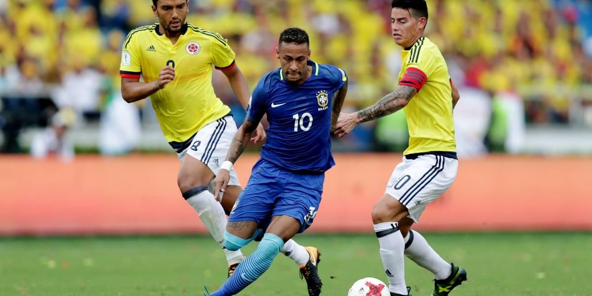 Colombia y Brasil empatan 1-1 en Barranquilla