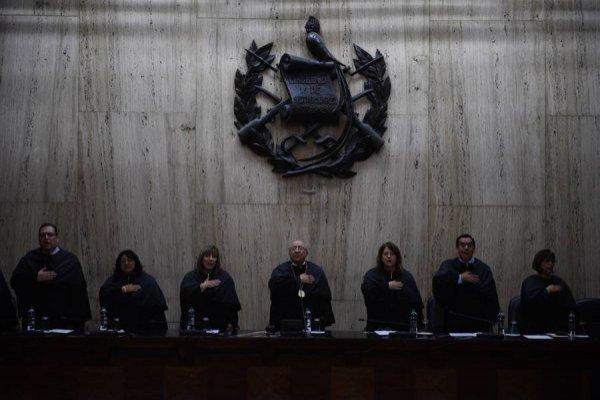 Magistrados en Corte Suprema de Justicia