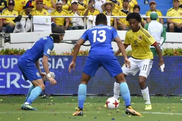 Video de los goles de la selección Colombia vs Brasil