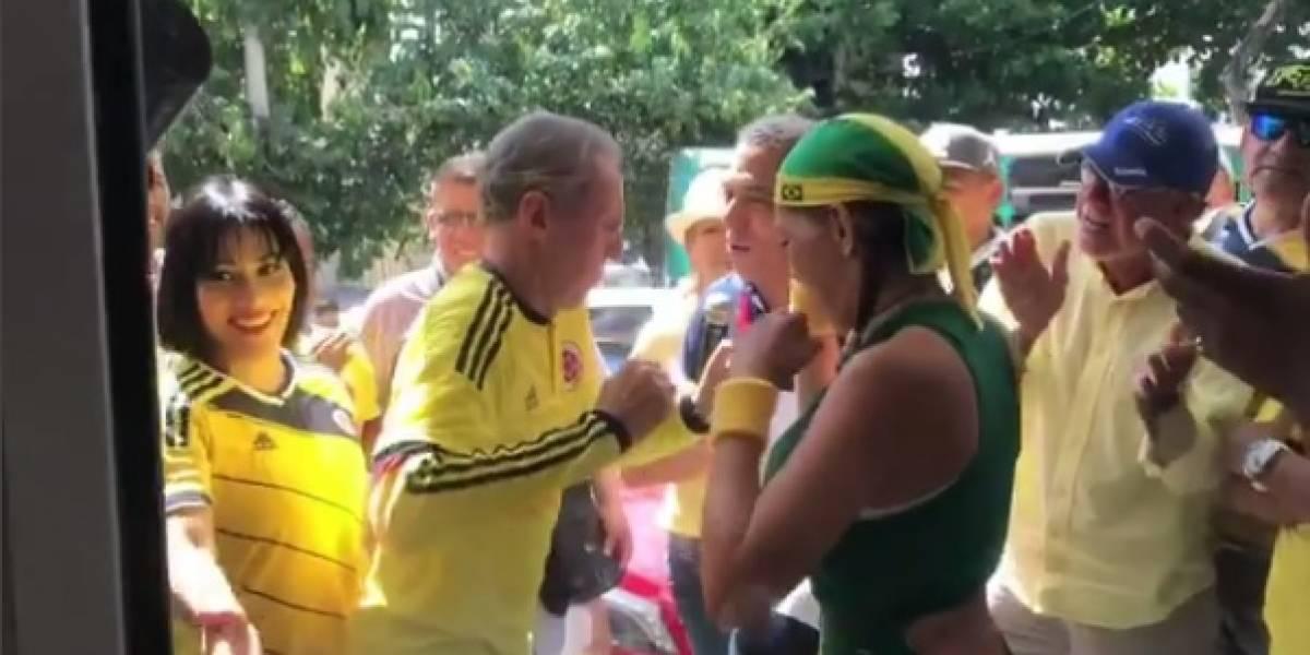 Encuentran a Navarro Wolff bailando con una brasileña previo al partido