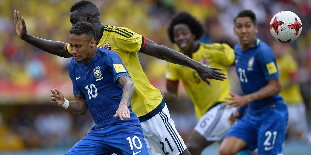 Resultado de imagem para Brasil sai na frente, mas cede o empate para a Colômbia
