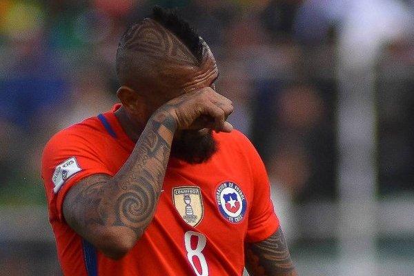 Arturo Vidal se fue llorando de La Paz / imagen: Photosport