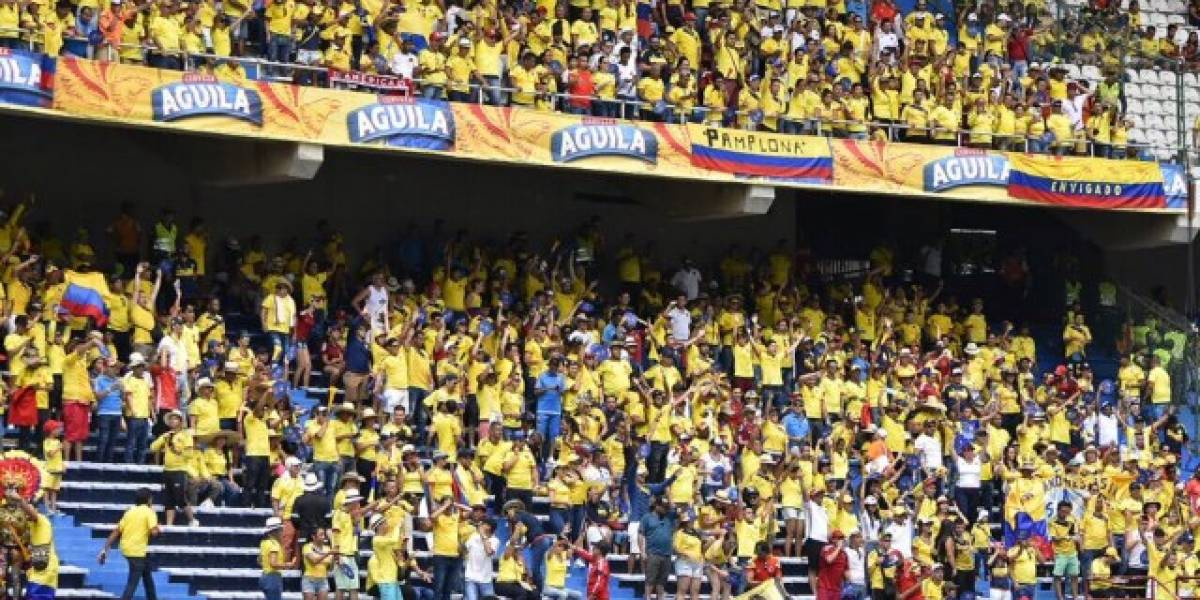 Llovizna se presentó en el Metropolitano antes del partido Colombia Vs Brasil